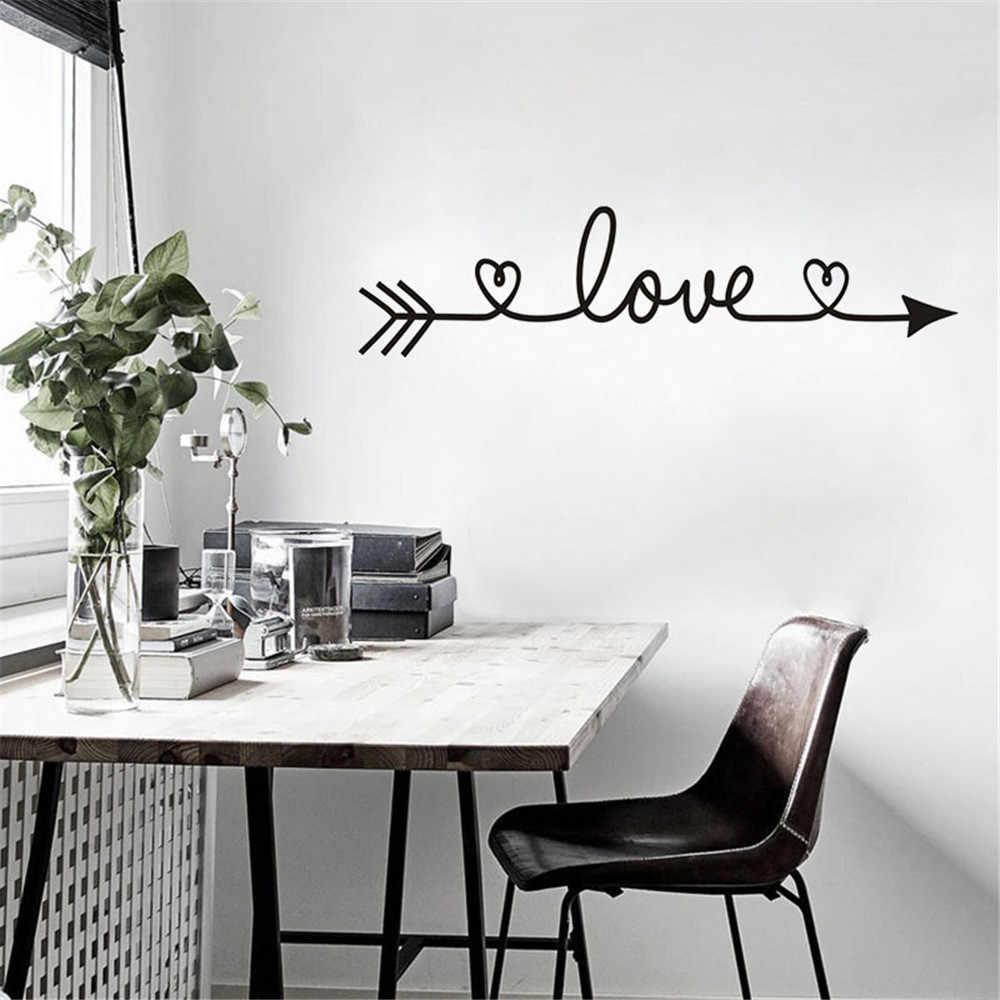Любовный узор DIY семья дом Ванная комната стикер на стену съемные настенные наклейки виниловый художественный Декор для комнаты стикер на стену s Муро обои
