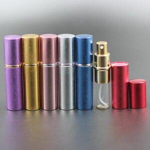 Image 3 - Pump New 50pcs/lot 10ml Anodized Aluminum Glass Perfume Bottle Vial Perfume Liquid Atomizer Spray Bottle Container Scent Bottle