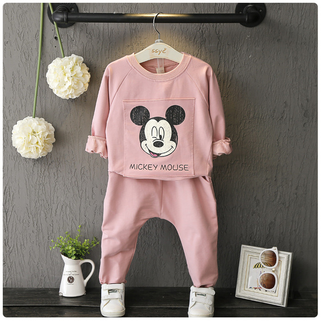 Children's Clothing Children's Sets baby boys spring suit set terry cotton girl tracksuits Kids sports suit Animal sweatshirts 4