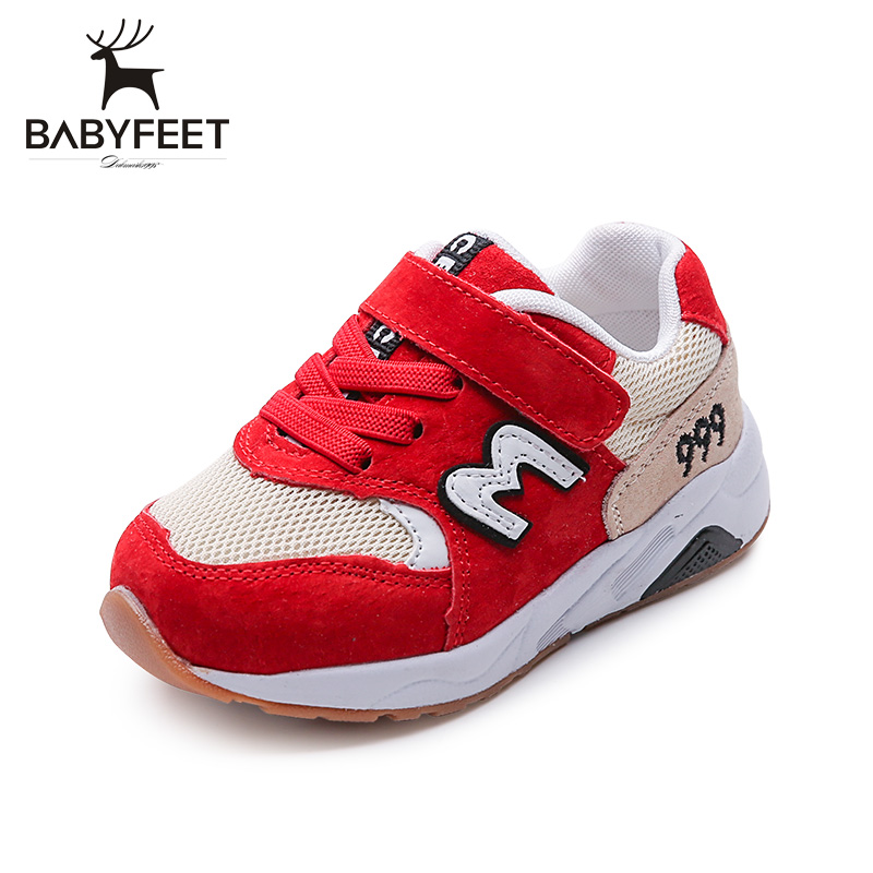Brand Babyfeet childrens sports shoes Sneakers non-slip 1-3 years old baby shoes girl boy casual breathable Toddler shoes 25#
