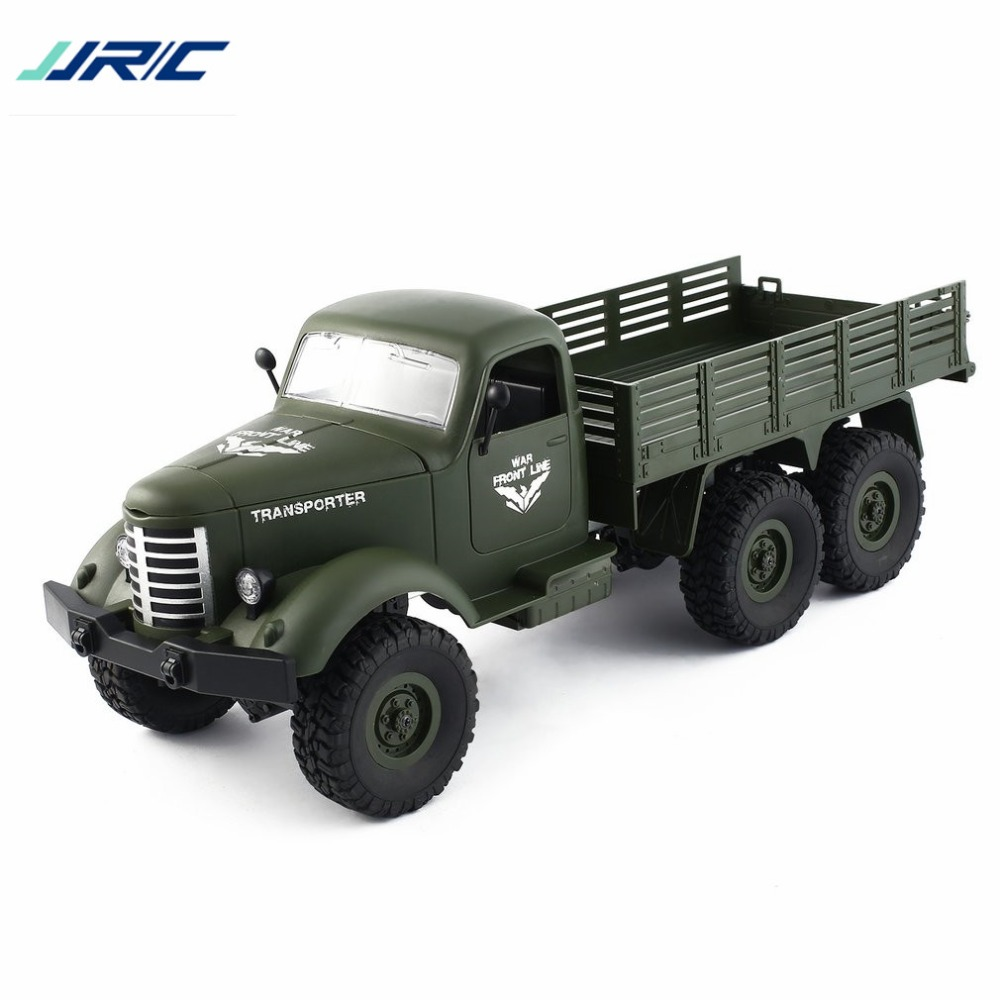JJR/C Q60 1/16 2.4G 6WD RC Off-Road Military Truck Transporter Remote Control Vehicle For Children Boys RC Model Truck Toy Gift