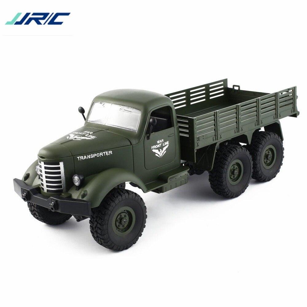 JJR/C Q60 1/16 2.4g 6WD RC Hors Route Militaire Camion Transporteur Véhicule de Contrôle À Distance pour Enfants garçons RC Modèle Camion Jouet Cadeau