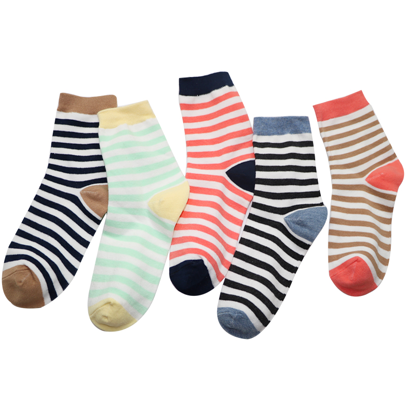 5Pairs Striped Mens Socks Spring Summer Male Casual Long Socks Mens Business Mens Dress Socks Hip Hop Meias Chaussette Homme