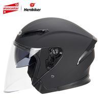 HEROBIKER Motorcycle Helmet Men Motorbike Motocross Casco Moto Helmet For Motorcycle Racing Half Face Helmet Crash Dual Lens
