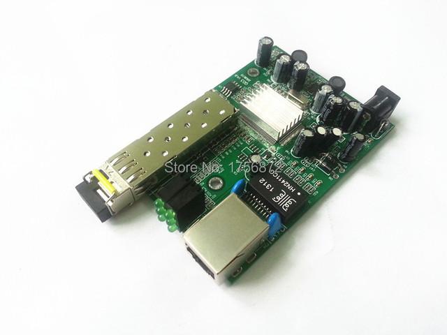 SFP Gigabit Transceptor De Fibra Bordo Gigabit SFP de Fibra Óptica Media Converter 1000 Mbps Sola Fibra Monomodo LC Puerto 20 KM