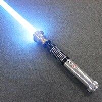 High Quality Hot Lightsaber Metal Material Luke Black Series Light Saber Sword 110 cm Length With LED Charge Boy Birthday Gift