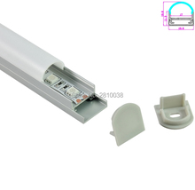 10 Sets/Lot Square type Anodized Silver LED aluminum profile AL6063 Aluminium led Channel for hanging lamps