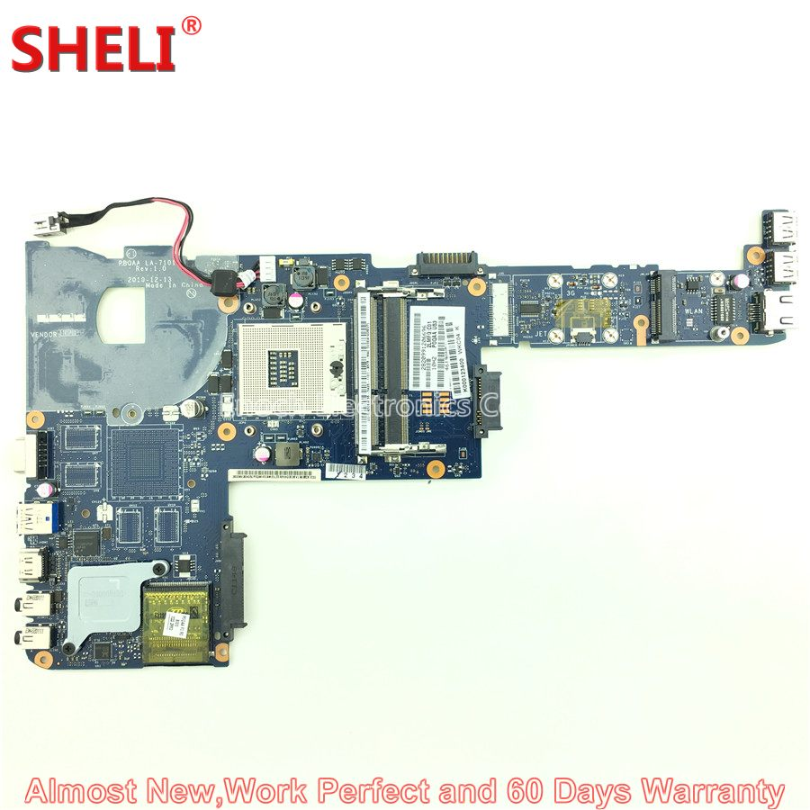 SHELI For Toshiba Satellite P700 P740 P745 Series Laptop Motherboard K000123400 PBQAA LA-7101P HM65 DDR3 System Board Mainboard free shipping for toshiba satellite p700 p740 p745 laptop motherboard k000123400 la 7101p all functions 100% fully tested