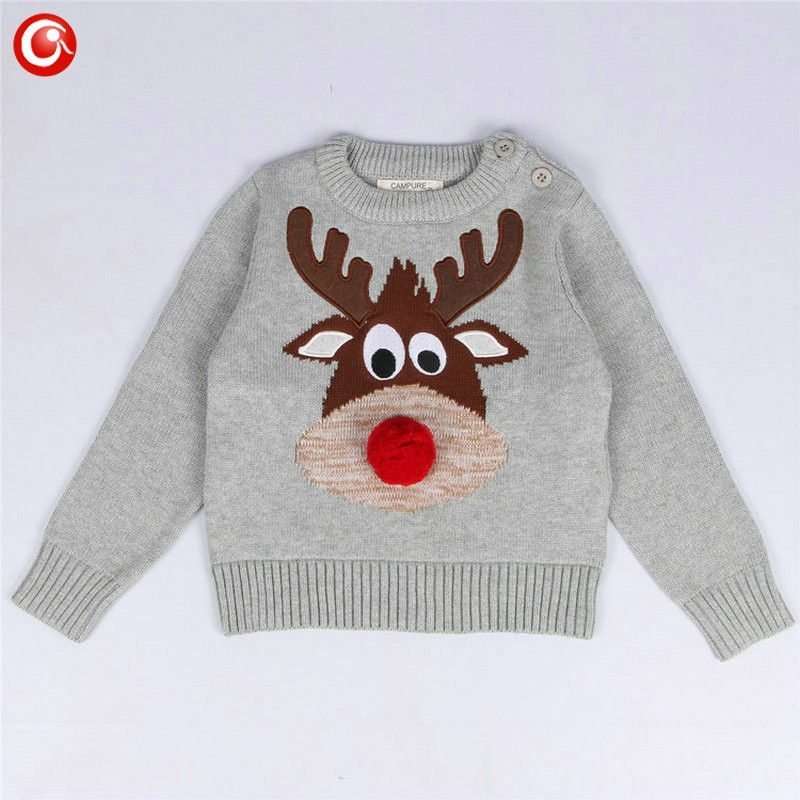 1-5y 2016 AutumnWinter Fashion Toddler Kids Girls Deer Sweater Long Sleeve Crochet Knitted Top For Christmas Kids Boys Cardigan (7)