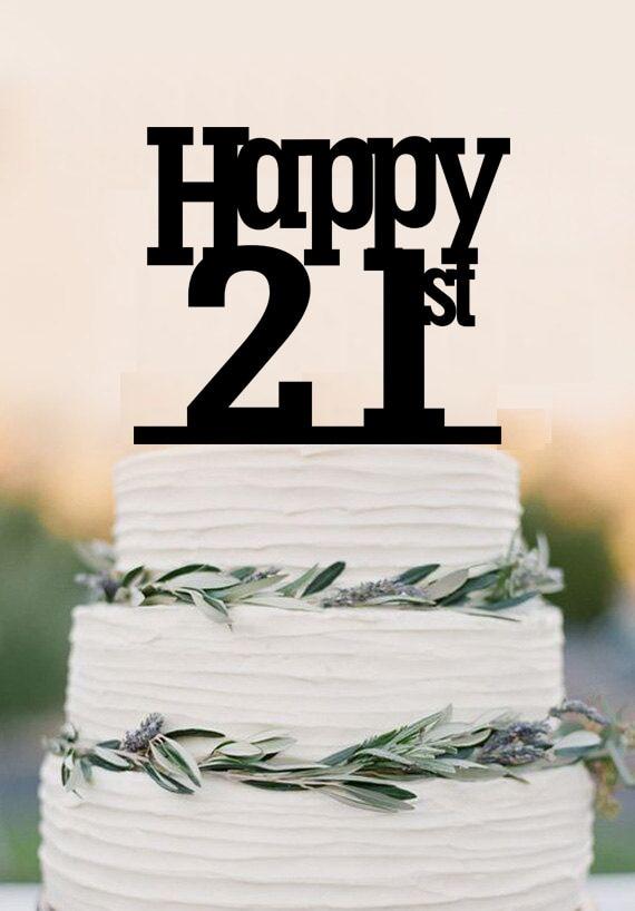 Personalized Birthday Cake Topper21st Cake Toppercustom Birthday