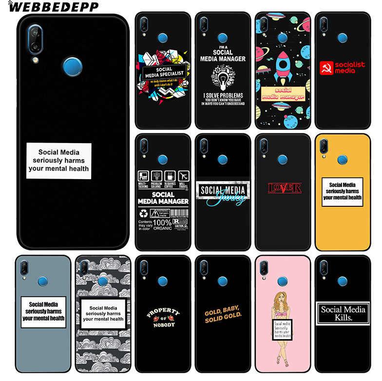 WEBBEDEPP de los medios de comunicación Social en serio daños suave caso de Huawei P30 P20 Pro P10 P9 Lite 2017 P Smart 2019 y nova 3 3i Y9 2019