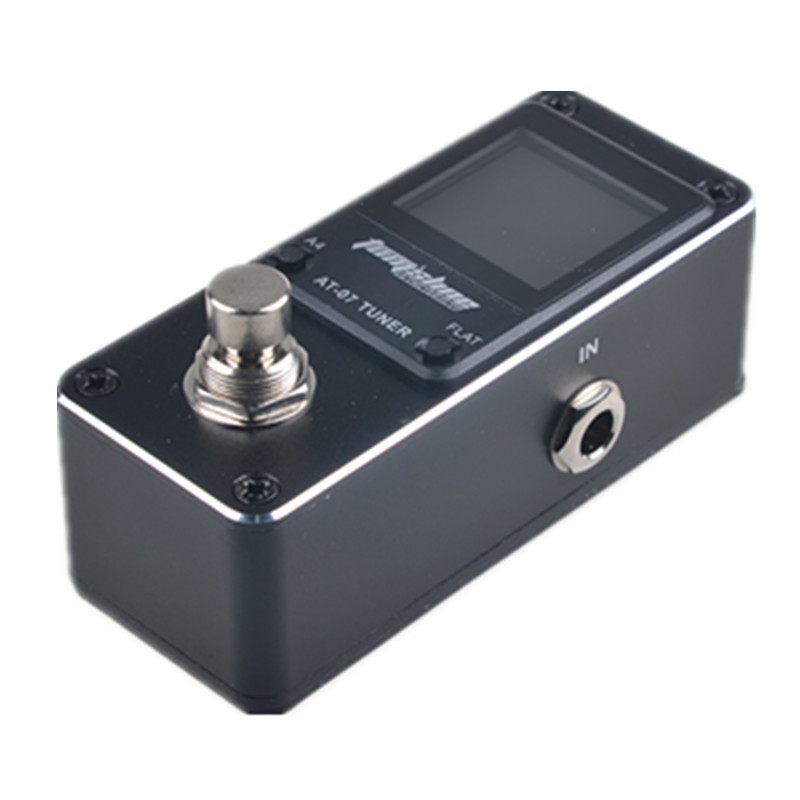 Aroma AT-07  Mini Chromatic Pedal Tuner Metal Shell Guitar Accessories With HD Colourful Screen Display
