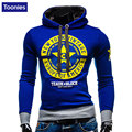 Mens Hooded Cotton Lace Up Collar Color Hoodies Chest Decoration Printing Letters Casual Slim Fit Sweatshirt Pullover Tracksuit