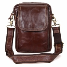 JMD Vintage Crazy Horse Leather Mini Messenger Bags For Sling Bag Men 1004B