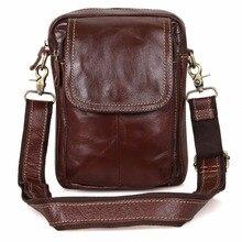 JMD Vintage Reales Kuhleder Mini Messenger Bags Für Schultertasche Männer 1004B
