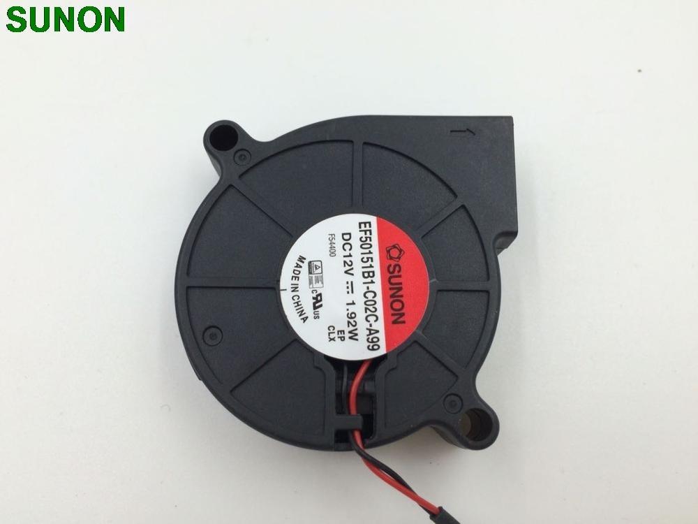 Nueva Marca Sunon EF50151B1-C02C-A99 5015 12 V 1,92 W 50*50*15mm Ultra silencioso humidificador ventilador Turbo