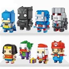 Blocks Super Heroes Building Blocks Set Wonder Woman Superman Captain America Batman Joker Deadpool Brick Heads Figure Toys