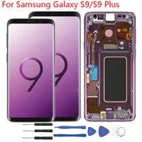 Для samsung Galaxy S9 ЖК дисплей Экран с рамкой G960 ЖК дисплей оригинал для samsung S9 плюс Дисплей Сенсорный экран G965 Дисплей сборки