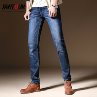 jantour 2018 New slim blue Jeans Men Long Trousers skinny distressed Business Casual cotton jeans Denim Pants man jean male