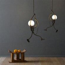 Modern Charming Hanging Chandelier Creative Iron Pendant  Lamp For Indoor Lighting Swing Small Humanoid Chandelier bamboo lamp chandelier modern scandinavian style small fresh
