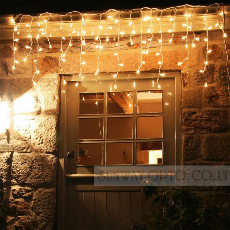 5 м 96SMD белый праздничный фестиваль занавес Свадебные огни Светодиодный полоска ледяной бар гирлянда для вечерние сказочные Рождественские новые