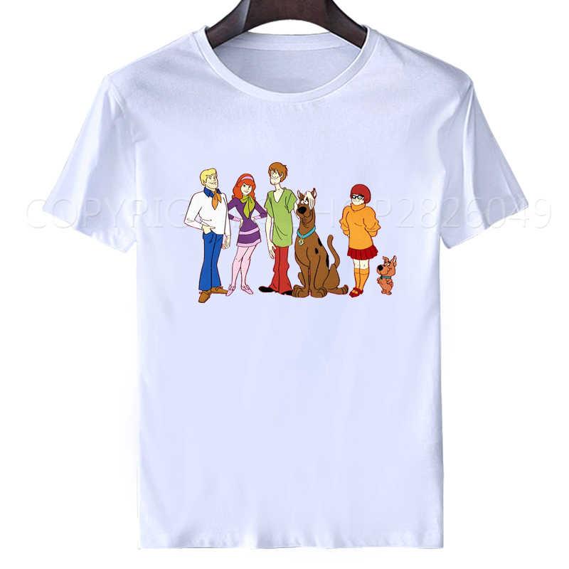 Marca Clothihng di Alta Qualità O-Collo di Modo Del Manicotto Del Bicchierino Del Scooby Doo Famiglia di Modo T Camicette per Gli Uomini 2018 Tee Shirt