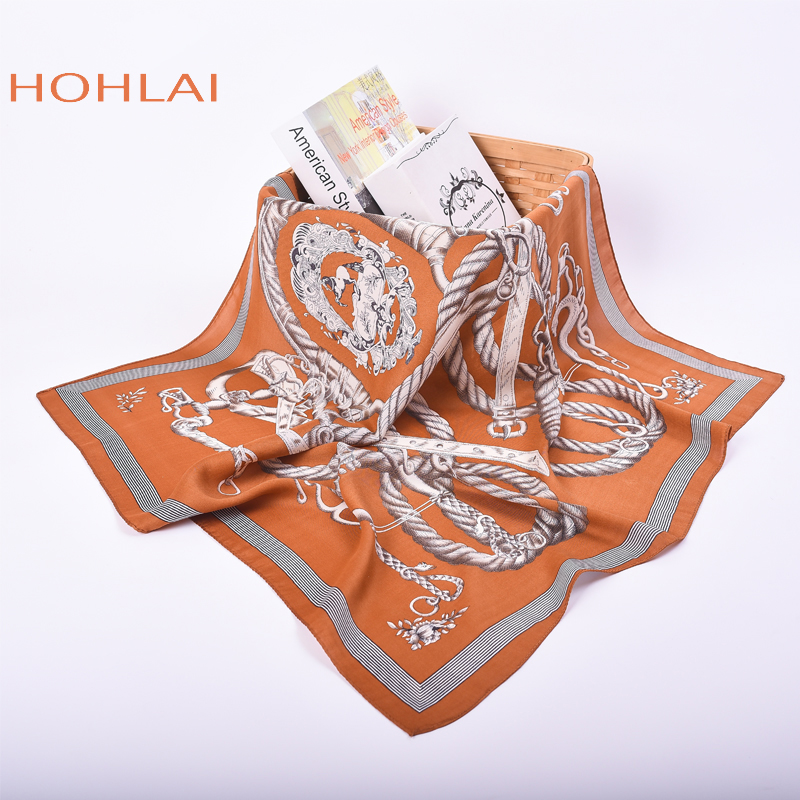 New Spring And Autumn Female Satin Scarf,Big Square Scarves Printed,Women Scarf,Purple Polyester Silk Scarf Shawl 70*70cm