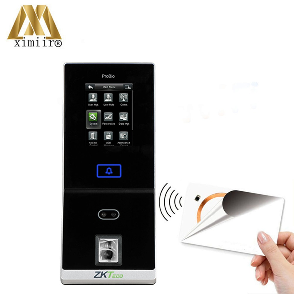 Good Quality Face And Fingerprint Time Attendance TA1200 Time Recording System With 13.56MHz IC Card