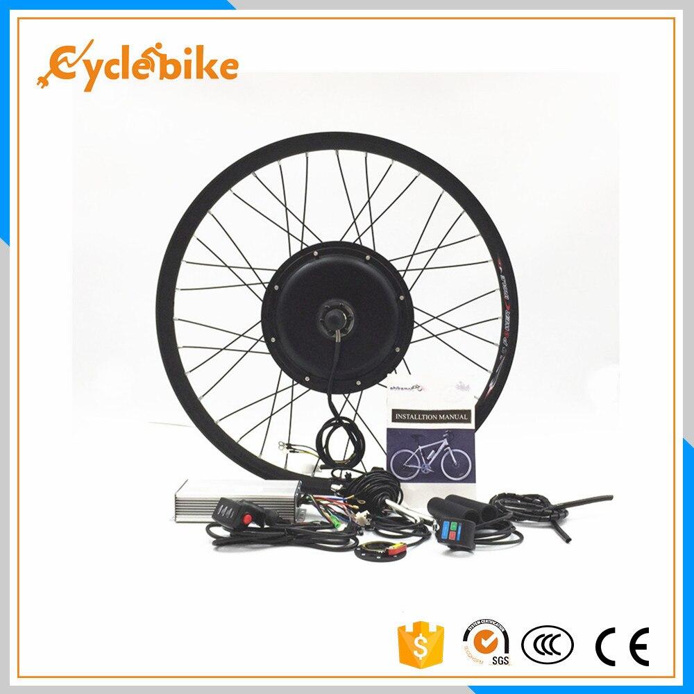 Спереди или сзади двигатель 50 км/ч/В ч 48 в 500 Вт DIY электрический велосипед колеса комплект для 20 24 26 28 700c