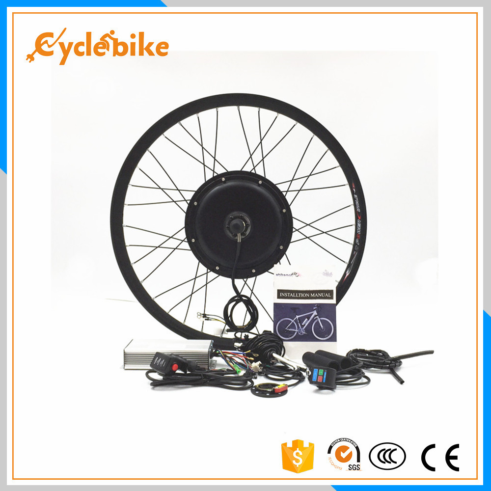 Avant ou arrière moteur 50 km/h 48 v 500 w DIY vélo Électrique roue kit pour 20 24 26 28 700c
