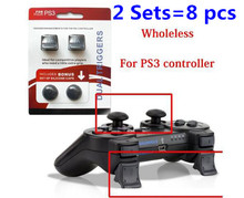 8pcs Game Controller Dual Triggers Enhancements for PS3 Playstation 3 Dualshock 3 Game Accessories Silicone Protective Cap Cover