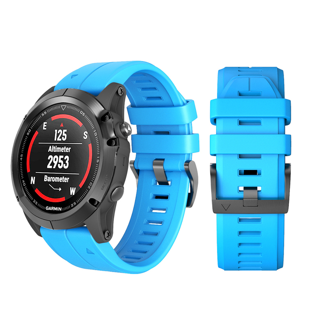 26mm 22mm Strap for Garmin Fenix 5X 3 3HR Silicone Strap with Quick Release Wris