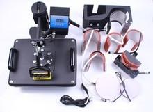 Envío libre 8 en 1 máquina Combinada de transferencia de calor o una taza placa de tapa de la Camiseta de impresión de calor combinado máquina de la prensa DX801 con Blanco/Negro