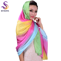 Ultralarge Women Silk Scarves High Quality Mulberry Silk Sunshade Shawl Female Pink Purple Summer Beach Silk