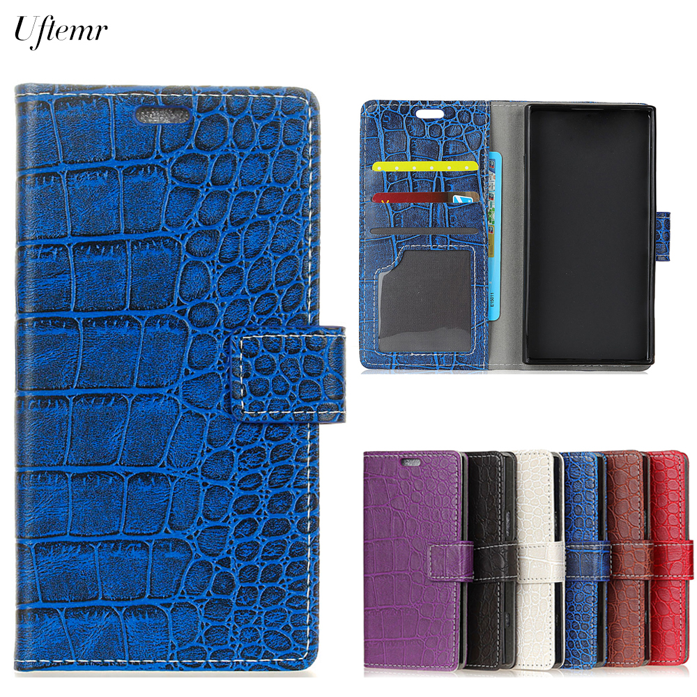 Uftemr Vintage Crocodile PU Leather Cover For Lenovo K8 Note Silicone Case For Lenovo K8 Note Wallet Card Slot Phone Acessories