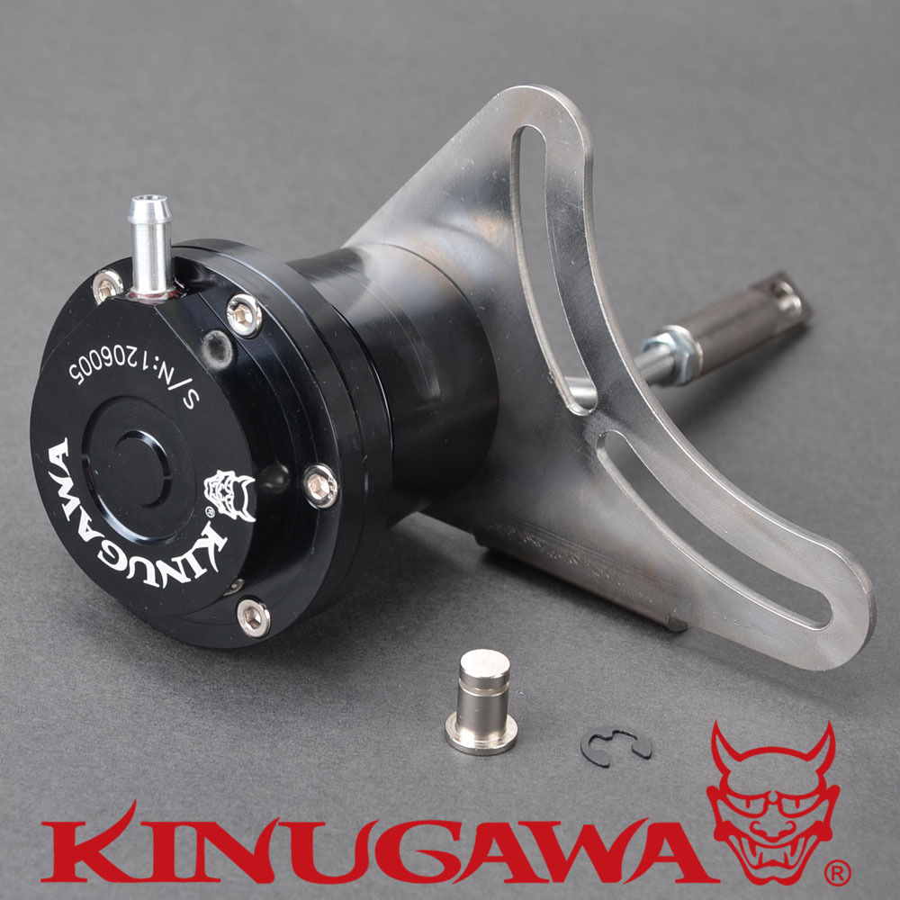 Kinugawa Adjustable Turbo Wastegate Actuator for IHI VF36 VF37 Twin Scroll for SUBARU STI 1.0 bar / 14.7 Psi