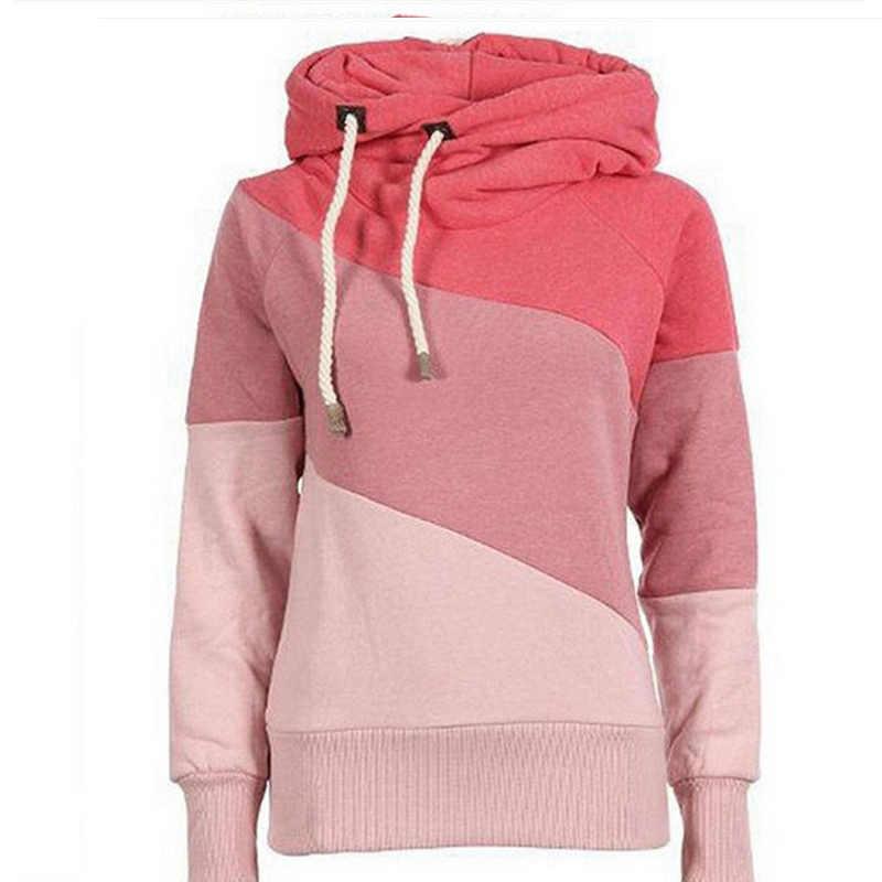 Новый красный розовый фиолетовый черный S-XXL Размер Толстовка с капюшоном осенние и зимние Дикая мода женская рубашка h