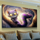 Pictures By Numbers New 5D Diamond Paint Cartoon Cat Diamond Painting Cross Stitch Kits Home Decor