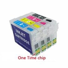 Für epson t2991-t2994 nachfüllbare tintenpatrone für epson XP-235 XP-332 XP-335 XP-432 XP-435 XP235 XP432 Mit Einer Zeit Chips