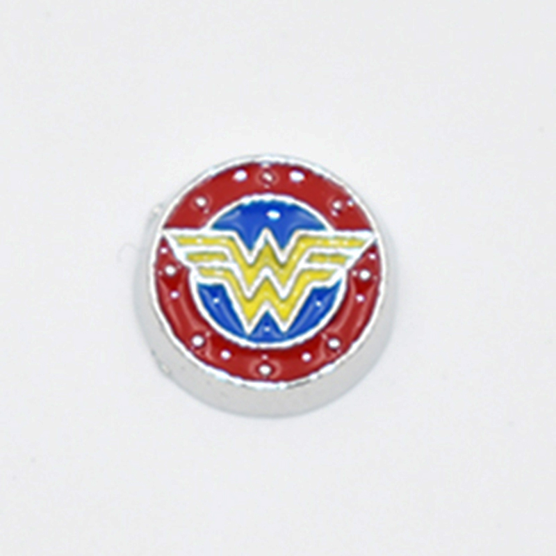 Fashion Enamel Superhero Wonder Woman Locket Charms Fit For Floating Glass Living Memory ...
