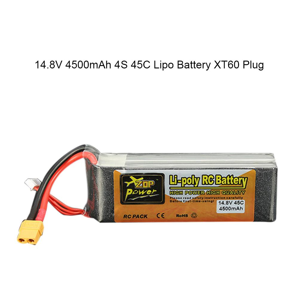 ZOP 14.8V 4500mAh 4S 45C XT60 Plug Lithium ion Battery Remote Control Toy Aircraft Parts For Remote Control Model Aircraft