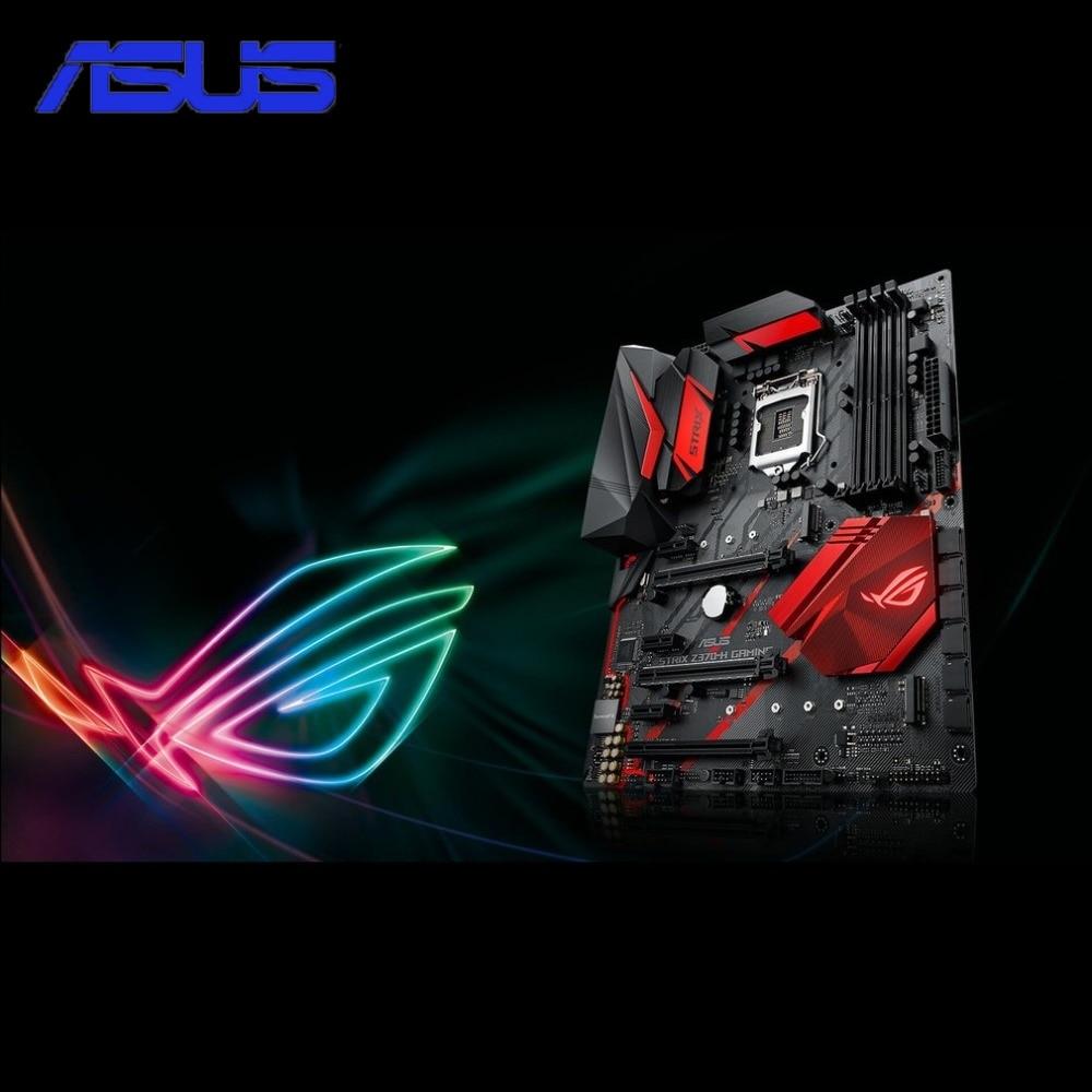 ASUS ROG STRIX Z370-H GAMING Z370 ATX Motherboard DDR4 Memory Dual M.2 SATA 6Gbps LGA1151 Mainboard with DP HDMI Ports rog strix x299 xe gaming x299 atx motherboard 802 11ac wi fi ddr4 dual m 2 sata 6gbps usb3 1 desktop mainboard