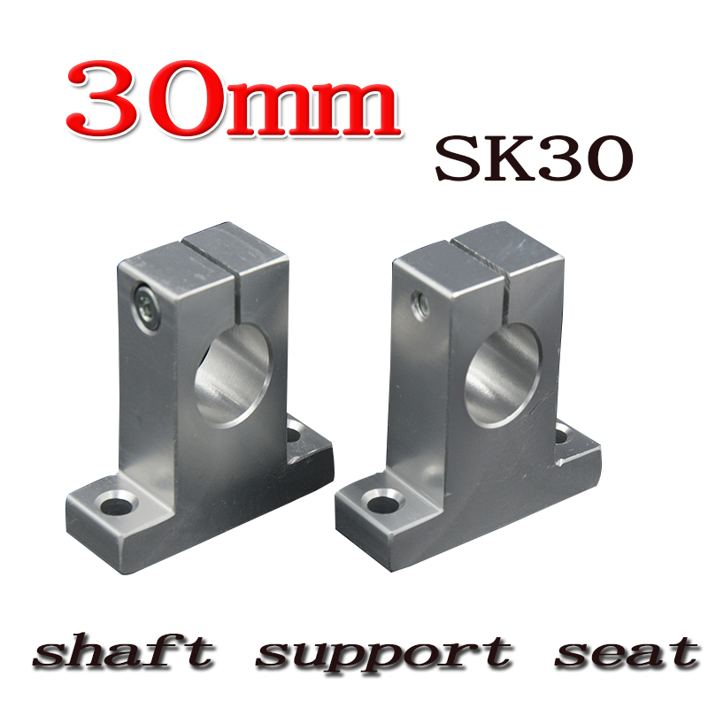 4pcs/lot SK30 SH30A 30mm linear shaft support 30mm Linear Rail Shaft Support XYZ Table CNC parts ves sk a 4