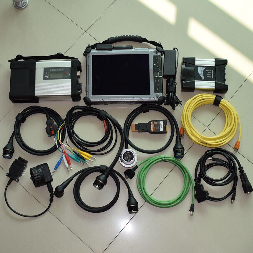 2018 МБ star c5 ssd для BMW ICOM рядом с ноутбука диагностики автомобиля tablet xplore ix104 i7 4G программного обеспечения 2in1 Супер качество лучше