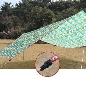 Image 3 - 6 個テント 8.2*3.1 cmAwning 風ロープクランプ日よけ屋外のキャンプ旅行プラスチッククリップクリップテント日よけアクセサリー
