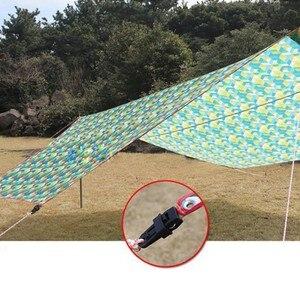 Image 3 - 6 PCS Tenten 8.2*3.1 cmAwning Wind Touw Klem Luifels Outdoor Camping Reizen Plastic Clip Clip Tenten Luifel Accessoires