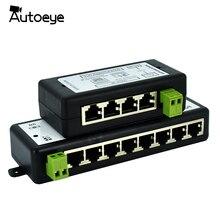 Autoeye חדש הגעה 4 יציאות 8 יציאות POE מזרק POE ספליטר עבור טלוויזיה במעגל סגור רשת POE מצלמה Power Over Ethernet IEEE802.3af