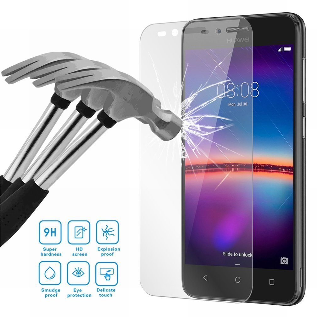 New 9H Tempered Glass For Huawei Y3 Y5 Y6 2017 Y7 LYO-L01 Y5 Ii Y6ii Compact CAM-L21 L03 L23 Y6 Pro Screen Protector Front Film