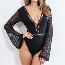 MUXU sexy black jumpsuit bodysuit women combinaison femme europe and the united states jumpsuits rompers backless body women цена и фото