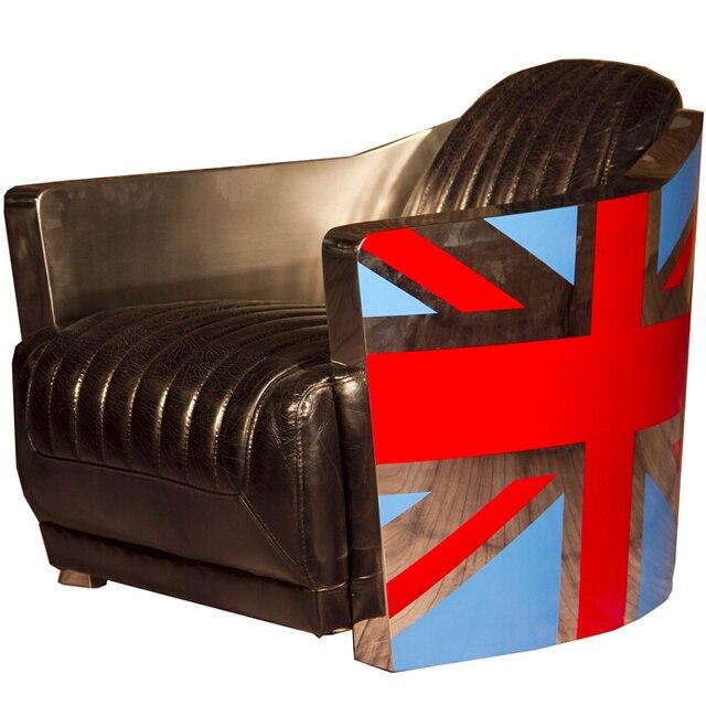 Vintage Leather Aviator Tomcat Chair